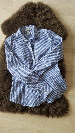 blau/weiße gestreifte Bluse