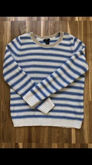 Blau-Weiße-Gestreifter Pullover von H&M