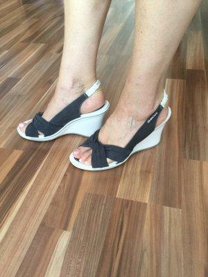Geox Plateauzool sandalen wit-blauw
