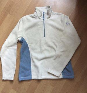 Blau/Weißer Fleecepulli S/M