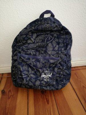 Blau weißer Herschel packable Rucksack