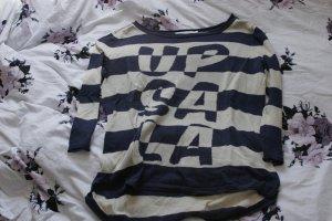 Blau/ Weißer Pullover von Only