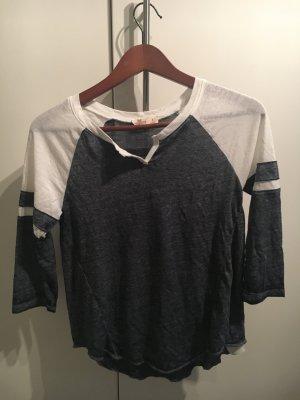 Blau-weißes Baseballshirt von Hollister