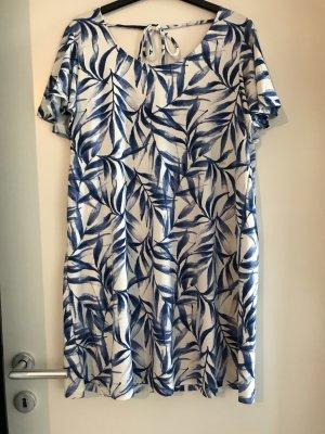 Blau-weißes Damenkleid von Mango