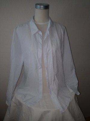 Blau weißes Hemd von Lacoste Größe 46