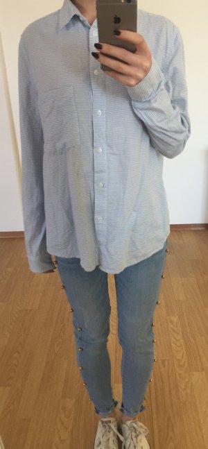 Blau-weißes Hemd von Mango