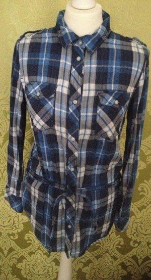 Blau weißes Holzfällerhemd