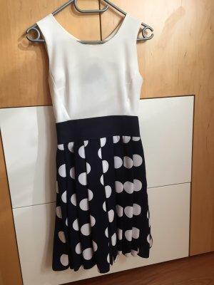 Blau weißes Kleid 34 Marine gepunktet