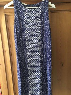 Blau-weisses knielanges Kleid von Promod, Gr. M, neu