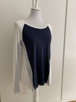 Blau/weißes Langarmshirt von BCBGMaxazria