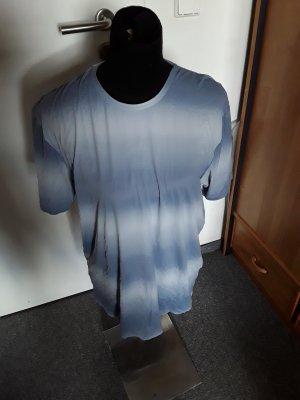 blau-weißes Shirt - Tshirt Nacht - gestreift - Uncover Schiesser - Größe XL