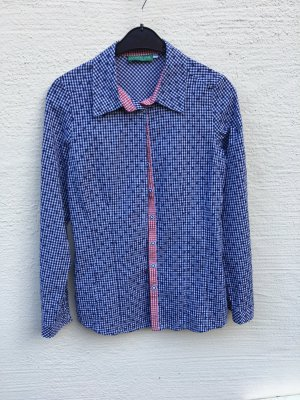 Country Line Folkloristische blouse wit-blauw
