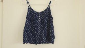 H&M Blusa blu scuro-bianco