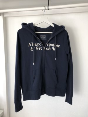 Abercrombie & Fitch Chaleco con capucha azul-beige claro