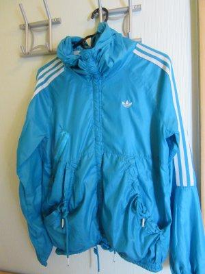 blaue Adidas Jacke Gr. S