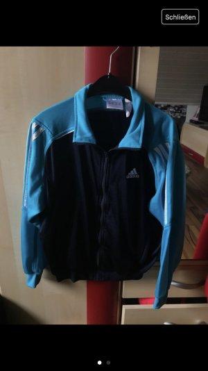 Blaue Adidas Trainingsjacke