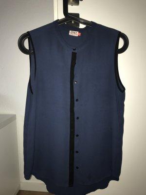 blaue ärmelose Bluse Gr.36