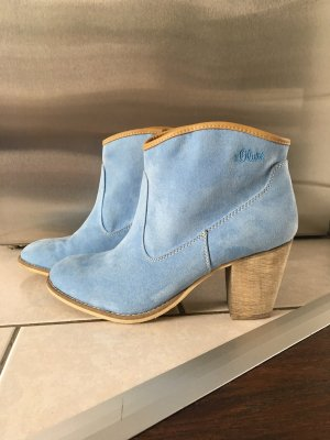 Blaue Ankle Boots s.Oliver