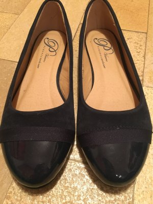Patent Leather Ballerinas dark blue