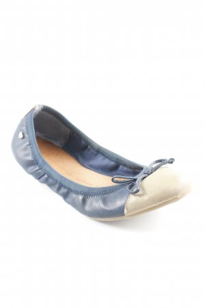 Foldable Ballet Flats gold-colored-blue
