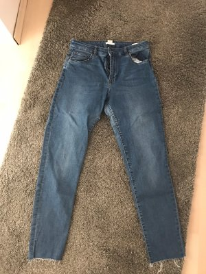 Blaue Basic Jeans Hose