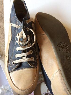 blaue/beige  Dockers in Leder