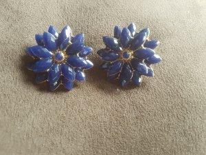 blaue Blumenohrringe