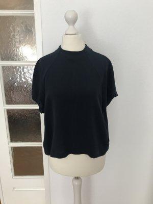 Blaue Bluse aus 100% Seide