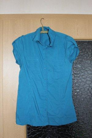 Blaue Bluse Gr. S/M Fishbone