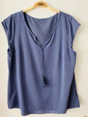 Blaue Bluse Größe L