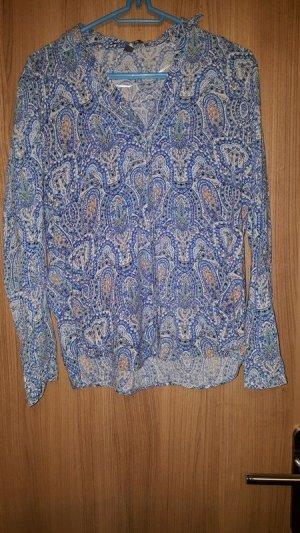 Blaue Bluse mit Paisleymuster von Esprit
