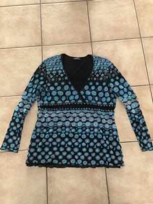 blaue Bluse / Shirt retro von Taifun  -  Gr. 42