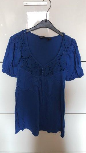 blaue bluse thsirt S mango