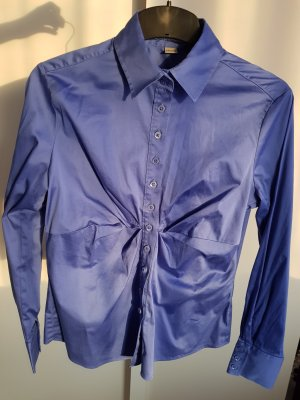 Blaue Bluse von Eterna Excellent Silverline, Größe 38, NEU
