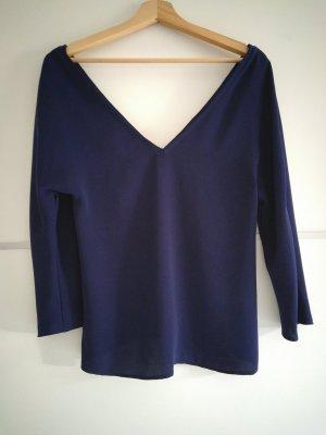 Zara Blouse bleu-bleu foncé