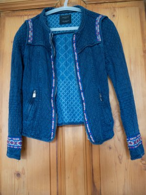 Blaue Boho-Jacke von Zara XS