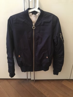 Topshop Bomberjack donkerblauw Polyester