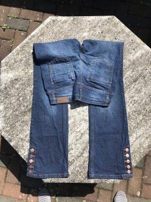 Blaue Boot Cut Jeans, Gr. 36