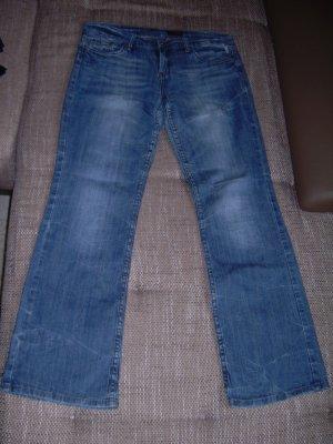 blaue Boot Cut Jeans von Dateless Gr. XL 42