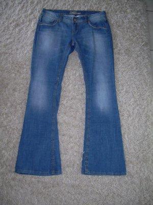 blaue Bootcut Jeans W33 Gr. 42/44 von Fishbone mit Schlag