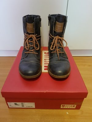 Mustang Shoes Stivale marrone-blu scuro