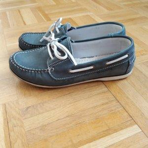 blaue Bootsschuhe Tamaris Gr. 38