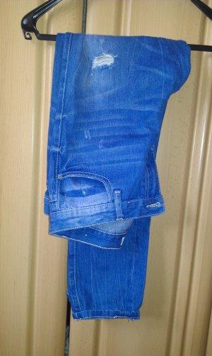 Blaue Boyfriend Jeans