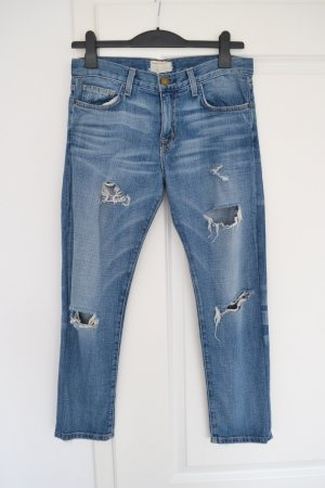 Blaue Boyfriend Jeans von Current Elliott made in USA super loved destroyed 25 1957  219 36 S 38 M