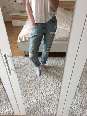 Blaue Boyfriendjeans H&M Lässig