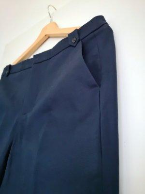 Zara Basic Bandplooibroek donkerblauw