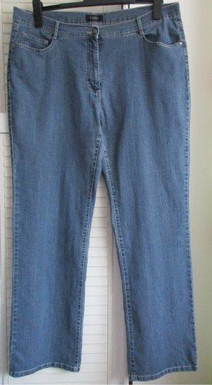 Blaue Damenjeans Jeans blau Gr. 48