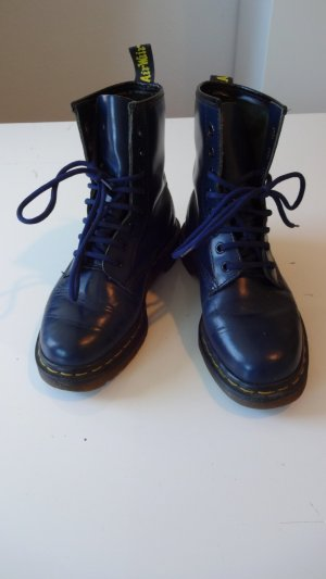 blaue Dr. Martens Made in England!