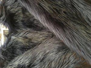 Blaue Fakefur Jacke von Unreal Fur Kurzmantel aus Kunstfell