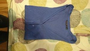 blaue fein Strickjacke